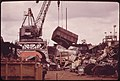 Old Railroad Box Cars, Auto Bodies and Other Junk for Scrap Metal Pile Up at the American Ship Dismantling Division on the Willamette River 04-1973 (4271605065).jpg