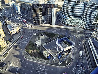 Old Street Roundabout - Looking down on Old Street Roundabout, 2012