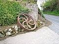 Old Traction Engine Belt Wheel, Bessbrook Road - geograph.org.uk - 778970.jpg