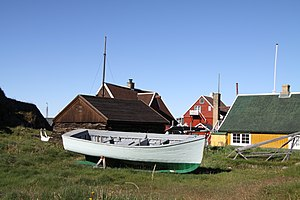 Fishing industry in Greenland - An old fishing boat in Sisimiut
