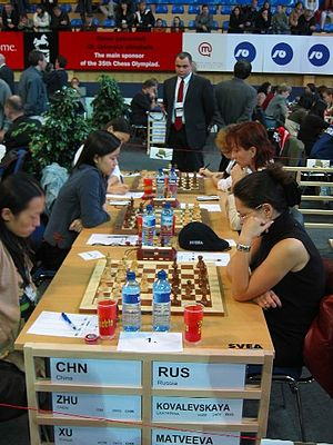 35th Chess Olympiad - Women's match: China v Russia