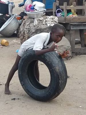 Child poverty - The sad reality in James Town, Accra.