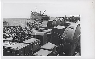 Operation Keystone Eagle - Equipment of the 1st LAAM Battalion on board a ship in Da Nang Harbour
