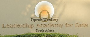 Oprah Winfrey Leadership Academy for Girls - Sign at the academy entrance – April 2015