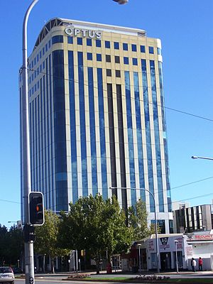 Optus - Former Optus building in Adelaide, South Australia.