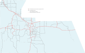 The roads built and planned in the 1926 bond issue, and earlier paved roads.
