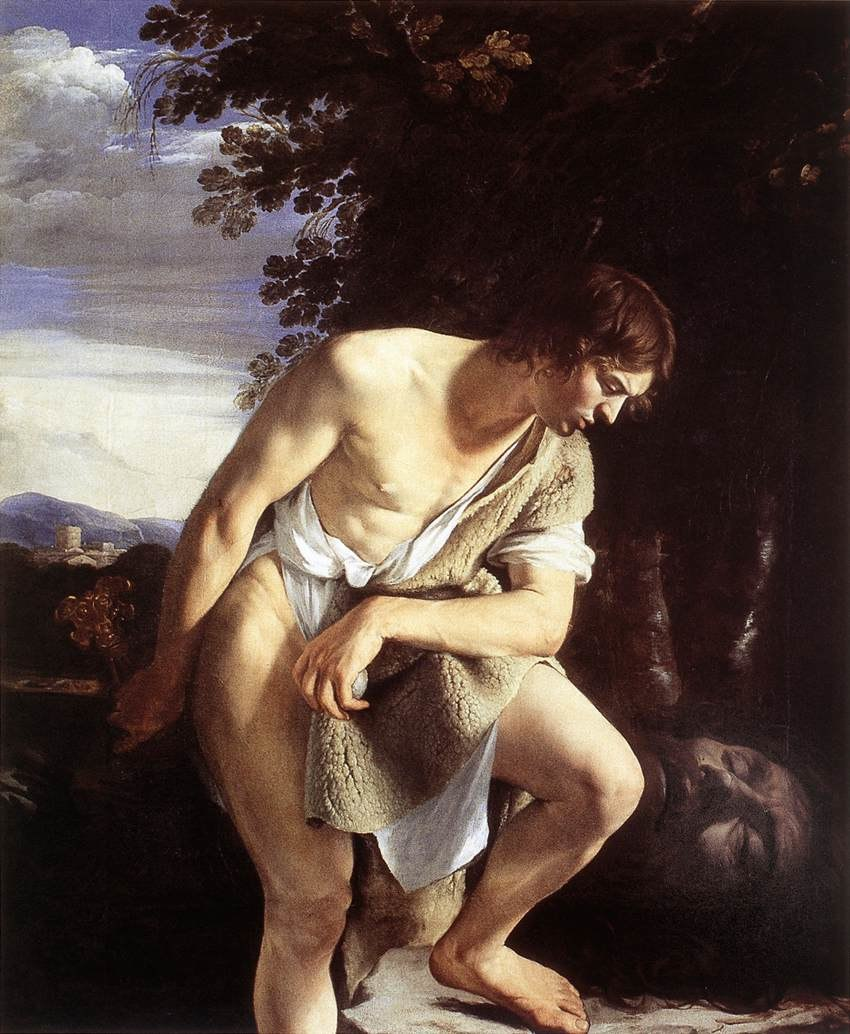 Orazio Gentileschi - David Contemplating the Head of Goliath - WGA08579