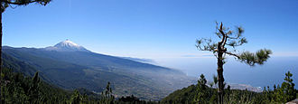 Orotava Valley - Orotava Valley, view towards Pico de Teide