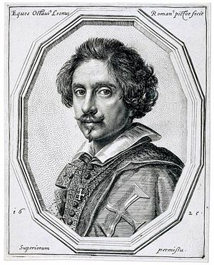 Ottavio Leoni - Ottavio Leoni, self-portrayed in this 1625 engraving.