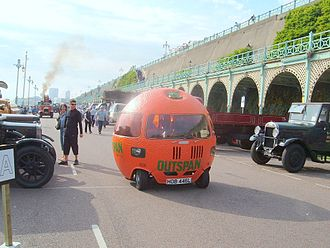 London to Brighton events - Madeira Drive at the finish of the Historic Commercial Vehicle Run