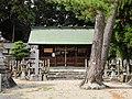 Owaki Shinmei-sha shrine haiden, Sakae-cho Toyoake 2018.jpg