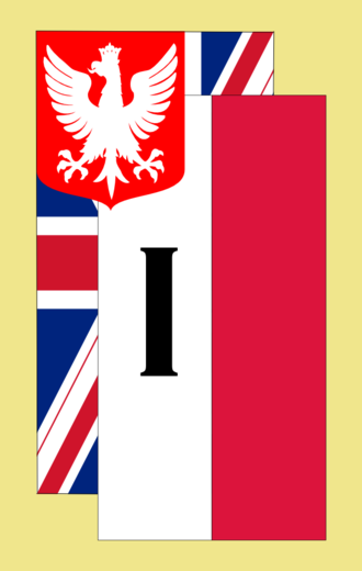 I Corps (Polish Armed Forces in the West) - Sign of corps