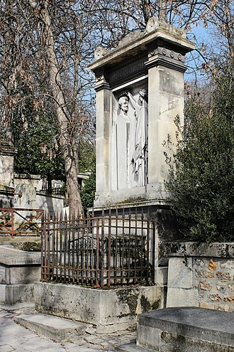 Luigi Cherubini - Cherubini's grave at Père Lachaise with a bas relief by Augustin Dumont