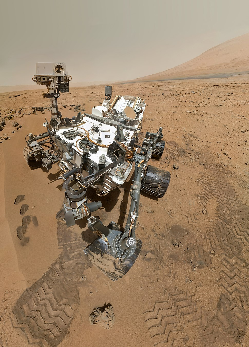 PIA16239 High-Resolution Self-Portrait by Curiosity Rover Arm Camera