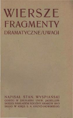 Wiersze Fragmenty Dramatyczne Uwagicałość Wikiźródła