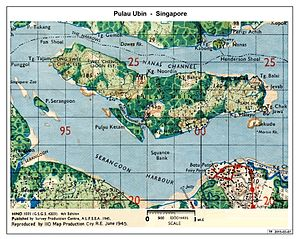 Pulau Ubin - Extract from Singapore Map - 1945