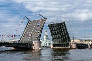 Palace Bridge bridge in Saint Petersburg