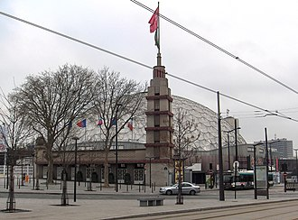 Les Misérables (musical) - The Palais des Sports, now Dôme de Paris, in Paris where the musical was first performed.