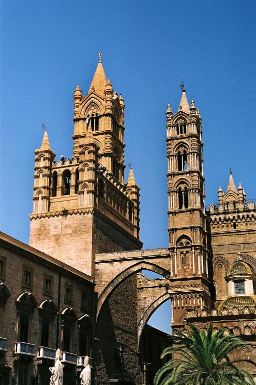 Tour de la cathédrale de Palerme - Photo de Bernhard J. Scheuvens aka Bjs