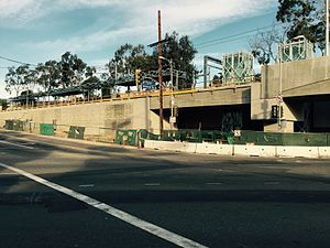 Palms station - Palms station during construction