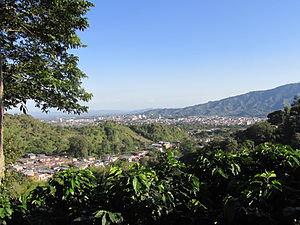 Ibagué - The skyline of Ibagué in 2015.