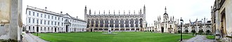 Choir of King's College, Cambridge - Image: Panorama depicting the Front Court of King's College Cambridge