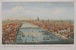 Panorama von London, von Osten her gesehen (T. Bowles, 1751)