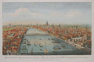 18th-century London - A view of London from the east in 1751.