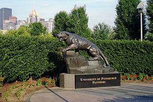 A University of Pittsburgh Panther outside Hei...