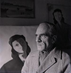 Virgilio Guidi - Virgilio Guidi photographed by Paolo Monti, 1952