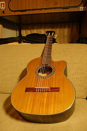 Requinto guitar - A requinto lying down.
