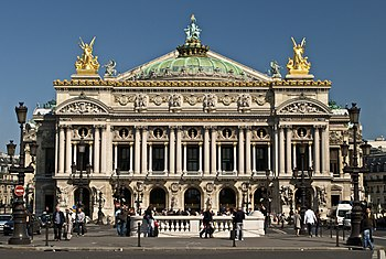 Paris Opera full frontal architecture, May 2009