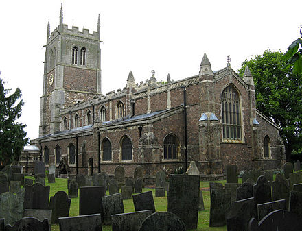 Church of St Peter and St Paul, Syston. The church is mostly of the 15th century. Parish Church of St Peter and St Paul, Syston, Leicestershire - geograph.org.uk - 1341932.jpg