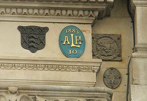 All Hallows Lombard Street - Parish marks in Lombard Street