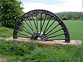 Parkhill Colliery pit wheel - geograph.org.uk - 1319046.jpg