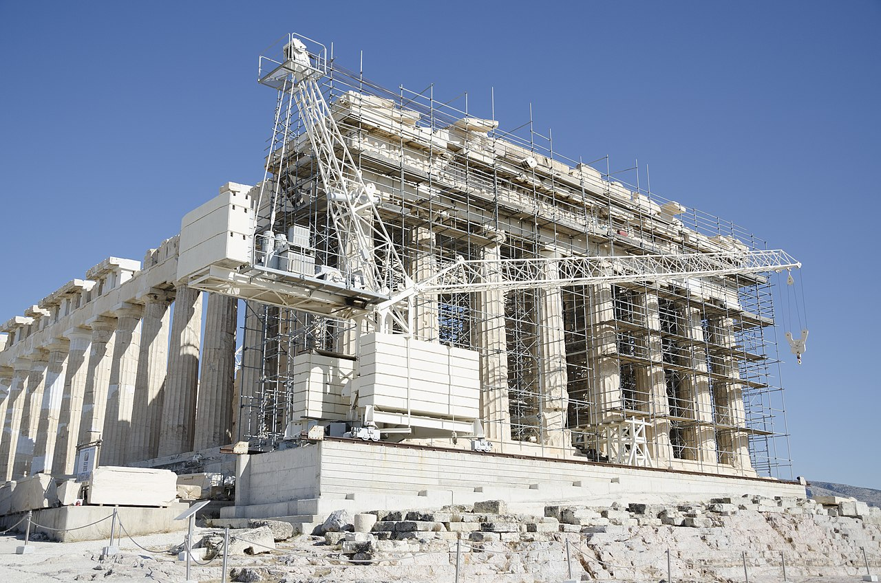 File:Parthenon west wall reconstruction 2017.jpg ...