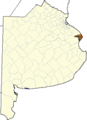 location of Punta Indio Partido in Buenos Aires Province