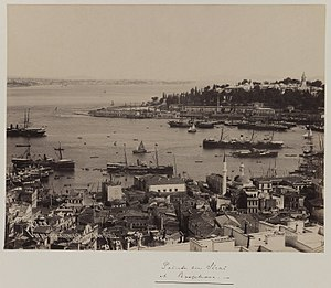 Pascal Sébah - Image: Pascal Sébah (Turkish, 1823 1886). Panoramic view of the Topkapi Saray Palace (section 1), ca. 1860 1880