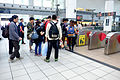 Passengers Waiting for Pass through Array of THSR Zuoying Station 20151024.jpg