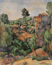 Paul Cézanne - Bibémus Quarry (Carrière de Bibémus) - BF34 - Barnes Foundation.jpg
