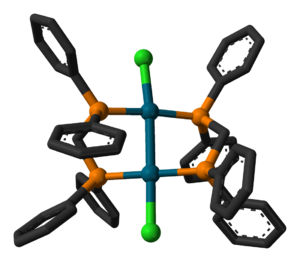 1,1-Bis(diphenylphosphino)methane - Image: Pd 2Cl 2(dppm)2 from xtal 3D ball stick hybrid