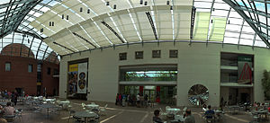 Peabody Essex Museum - The spacious central atrium has movable solar shades – (July 2013)