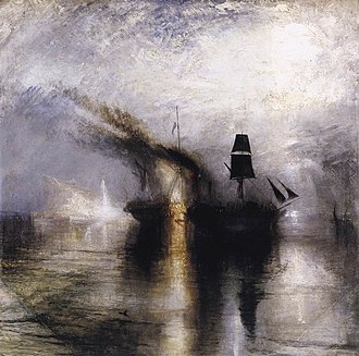 1842 in art - Image: Peace Burial at Sea 1842 JMW Turner
