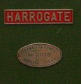 Peckett & Sons Ltd, No 2050. Bristol 1944 works plate.jpg