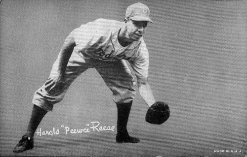 Reese with the Dodgers. Pee wee reese exhibits.jpg