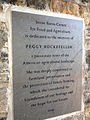 Peggy Rockefeller plaque at Stone Barns Center.jpg