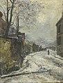 Pelletier P.J. - Oil on canvas - Montmartre, la rue Ravignan, l'hiver - 41x33cm.jpg