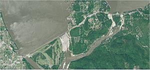 Grand Lake o' the Cherokees - Aerial View of Pensacola Dam and Grand Lake