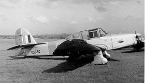Percival Prentice - A Percival P.40 Prentice T.1 of No. 16 Reserve Flying School based at Derby (Burnaston) Airport in service in May 1953