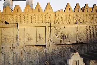 Battlement - Decorative battlements in Persepolis